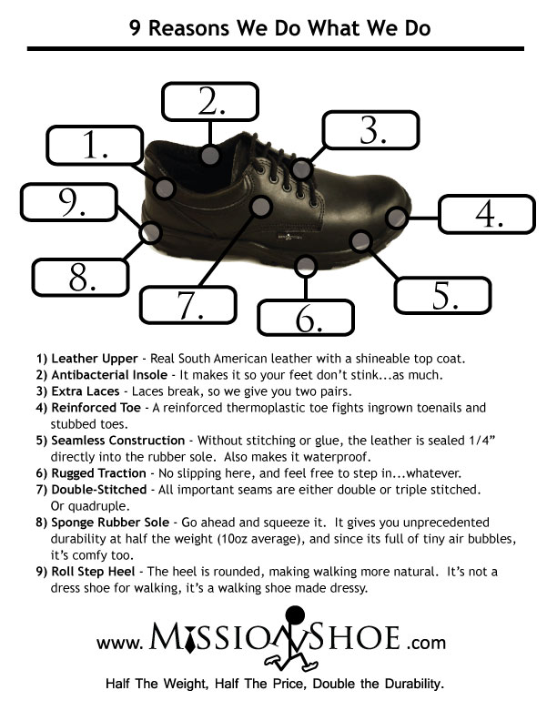 Missionary Shoe Advantages